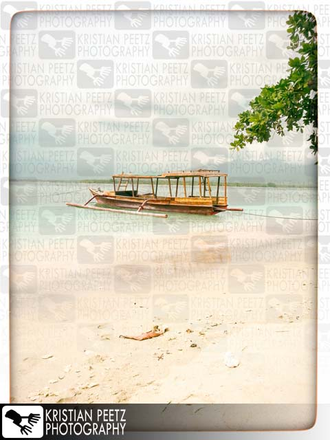 Fisher-boat at the beach of Gili Air island in Lombok, Indonesia - Copyright by Kristian Peetz