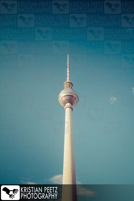 "The ""Fernsehturm"" in Berlin - Copyright by Kristian Peetz"