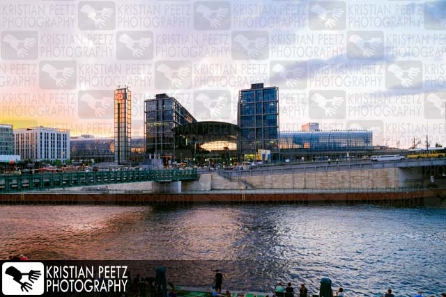 The Berlin Central Station at sunset - Copyright by Kristian Peetz