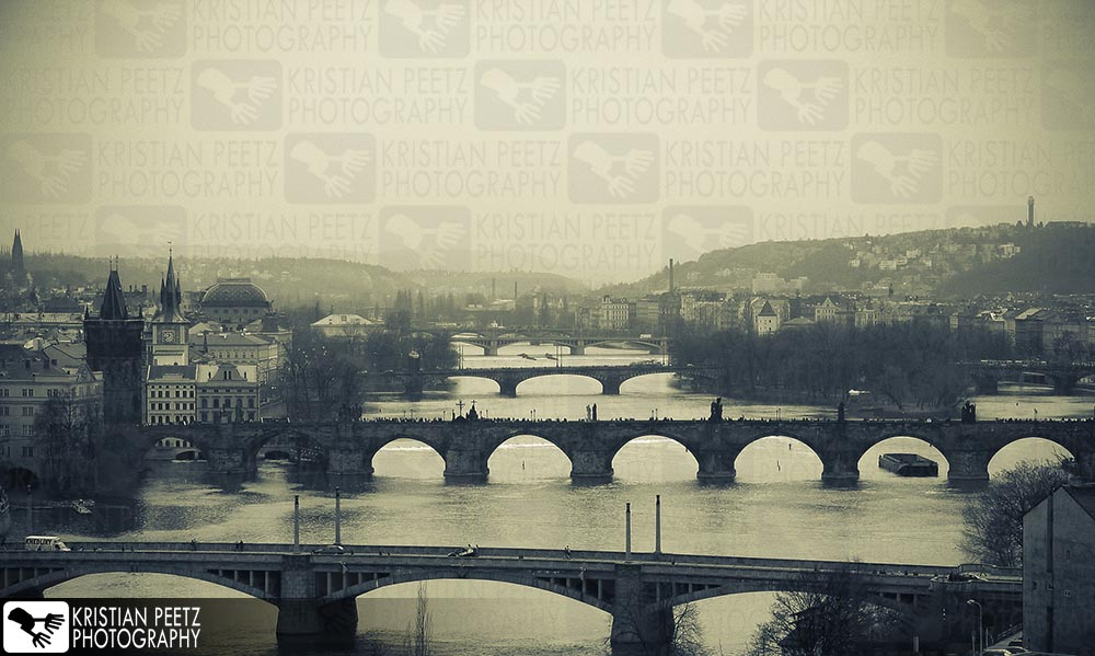 View of the bridges in Prague - Copyright by Kristian Peetz