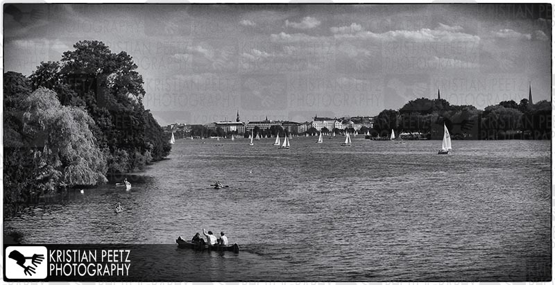View of the Alster Lake in Hamburg - Copyright by Kristian Peetz