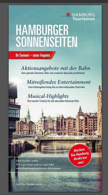 """Broschure """"Hamburger Sonnenseiten 2016"""" - Hamburg Tourismus / http://www.hamburg-tourism.de"""