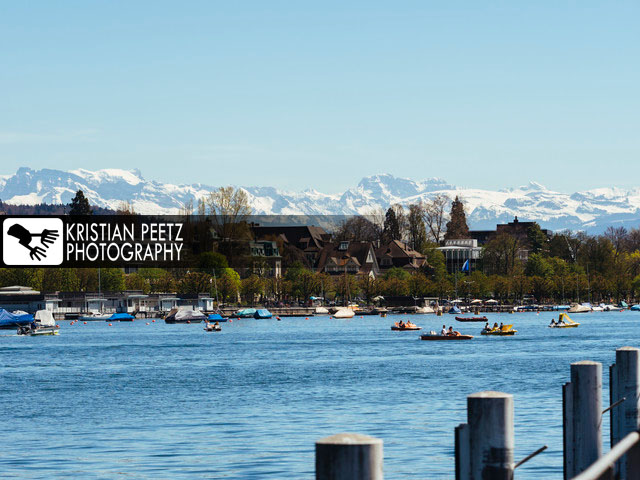 View of the Lake Zurich with the majestic alps in the background - copyright: Kristian Peetz