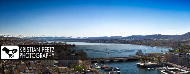 Panorama view of Zurich and the Lake Zurich - copyright: Kristian Peetz