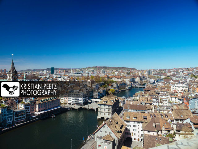 View of the skyline of Zurich on a bright, sunny day - copyright: Kristian Peetz
