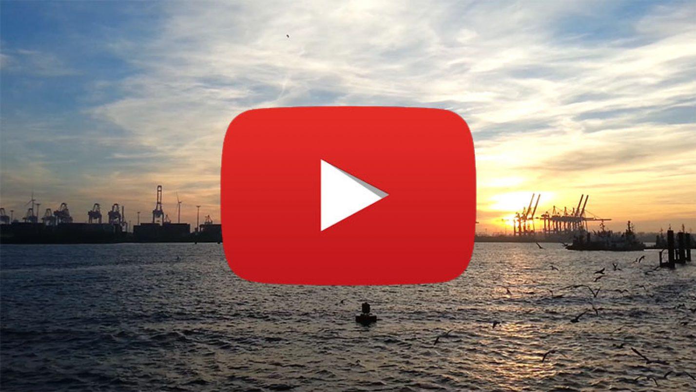 Sunset at the Port of Hamburg – Video